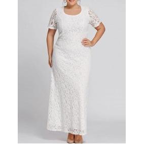 Vestido Noiva Plus Size Sob Medida Renda Evangélica Civil