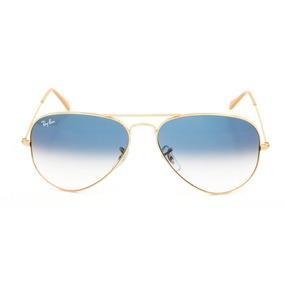 b8a68fd08bbdc Óculos De Sol Aviador Ray Ban Cinza Claro Degradê - Óculos no ...