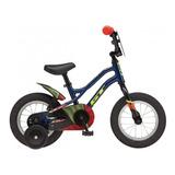 Bicicleta De Niño Gt Grunge Azul Aro 12 // Bamo