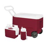 Combo Caixas E Galão Igloo Wheelie Cool 38qt - Vermelho