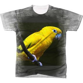 Blusas Com Estampas De Araras Amarelas - Calçados 98b42d9189f6e