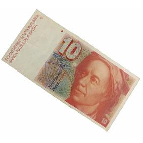 10 Dix Francs Rara Nota Cédula Da Suiça N0229