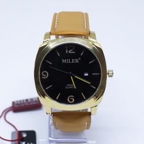 e72f0416209 Relogio Branco E Dourado Miler - Relógios no Mercado Livre Brasil