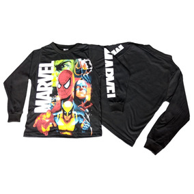 Camiseta Manga Longa Infantil Personagens Marvel 5098011c37c87