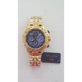 1880f3342b9 Relogio Festina Dourado Fundo Azul Esportivo - Relógios De Pulso no ...