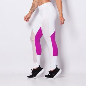 Legging Fitness Poliamida White Lg760