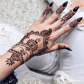 3 Hennas Indianas Pretas,tatuagem Temporaria,sobrancelha