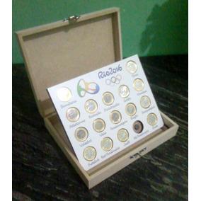 Expositor De Moedas Das Olimpíadas Rio 2016 C/moedas (leia)