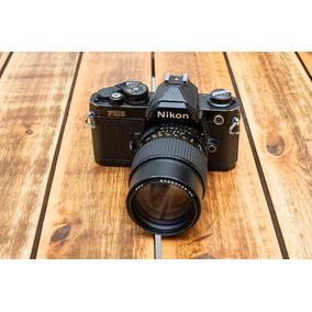 Nikon Fm2 Black (revisada) + Lente Imado 135mm F/2.8