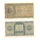 2 Billetes 50 Centavos Y 1 Peso Moneda Nacional Sin Circular