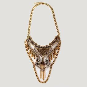 Collar Dorado De Moda + Envío Gratis