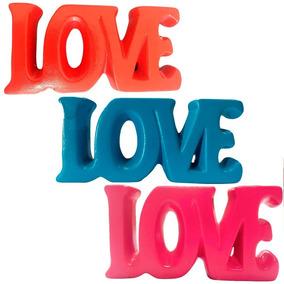 Palavra Amor Em Cerâmica Escultura Decorativa Novidade