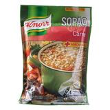 Lote C/ 12 Sopão Knorr Carne Com Macarrão 195g