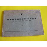 Mercurio Peruano: Libro Automotriz Mercedez Benz 1967 L104