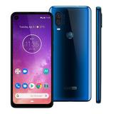 Celular Motorola One Vision Xt1970 128gb 48mp Azul Safira