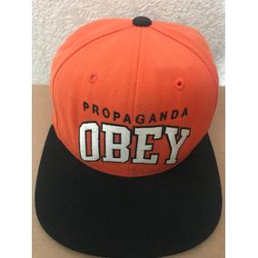 Gorra Snapback Obey Naranja Original