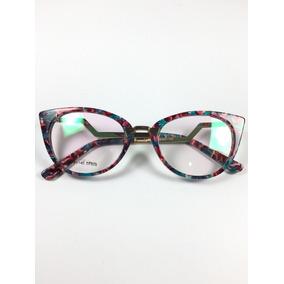 0ac4eca296060 Oculos Grau Gatinho Florido - Óculos no Mercado Livre Brasil