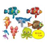 Balão Fundo Do Mar 30 Cm - R$ 40,00 - Kit Com 20 Balões
