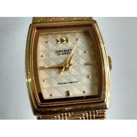 Relógio Orient Original Folheado A Ouro 18k Está Parado