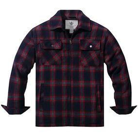 Chamarra Camisa Hombre Borrega Leñador Lumberjack Cuadros F