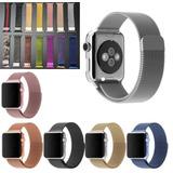 Kit 2 Pulseira Milanese Aço Metal Para Apple Watch Serie1234