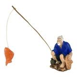 Pescador Chinês 6,5 Cm Miniatura Enfeite Terrário Fonte