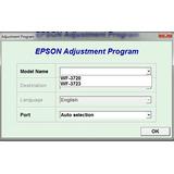 Reset Epson Workforce 3720, Workforce 3723