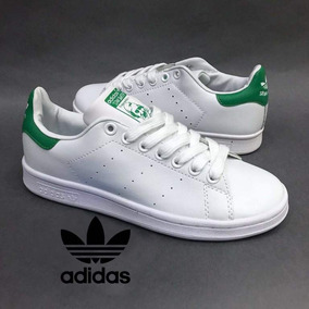 half off f21cc c4c5f Tenis Zapatillas adidas Stan Smith Verde Blanco