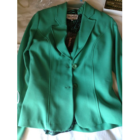 Traje Nuevo Verde Jade 4 Piezas! Oferta Ann Miller