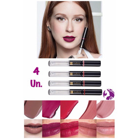 Kit 4 Un. Batom Lip Tint Eudora 12 Horas De Fixação