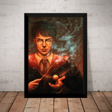 Poster Com Moldura Decorativo Harry Potter Quadro Grande