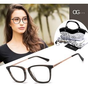 Armação Oculos Ogrife Og 1233-b Feminino Com Lente Sem Grau · R  80 e53012c792