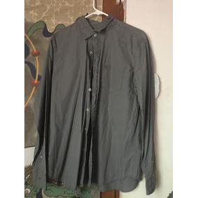 Camisa American Eagle Gray Gris Moda Hombre Fashion Retro