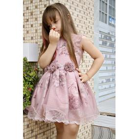 Vestido Luxo Princesa Festa Infantil