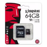 Memoria Micro Sd Xc 64 Gb Kingston Clase 10 Tienda 2