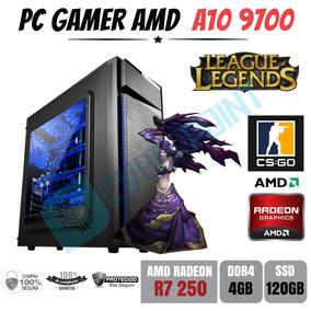 Pc Gamer Bg023 Amd A10 9700 4gb Ddr4 R7 250 Apu Ssd120gb