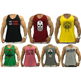 1399c2493fc47 Kit 7 Regata Cavada Masculina Tank Algodão Camiseta T-shirt
