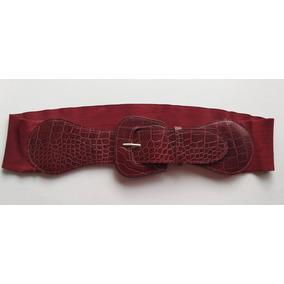 Cinturón Ancho Color Rojo