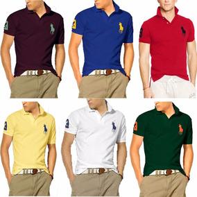 Kit 6 Camisetas Gola Polo Masculina Grandes Marcas Atacado 71d61504a1ede