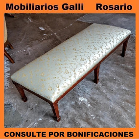 Impecable Banqueta Larga Estilo Inglés Mobiliarios Galli