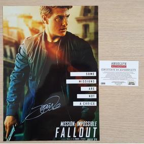 Missão Impossível Poster Autografado Por Tom Cruise