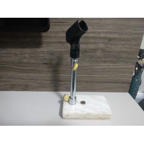 Suporte Pedestal Microfone De Mesa Base Em Granito - Leson