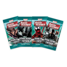 Pack De Cartas Marvel Battle Scenes Evolução Tática + Brinde