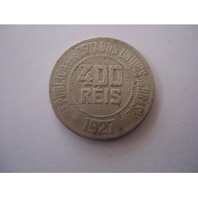 Moeda Niquel 400 Réis 1927 República Estados Unidos Brasil
