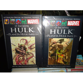Encadernado Marvel Planeta Hulk Parte 1 E Parte 2 - Salvat