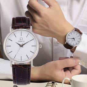 Relógio Casual Masculino Pulseira De Couro