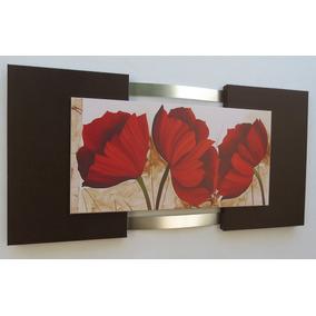 Quadros Abstratos Flores Salas Escritórios 140x70cm