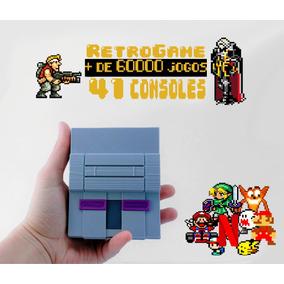 Super Nintendo Mini + 60 Mil Jogos Recalbox 64gb 4 Ctrl