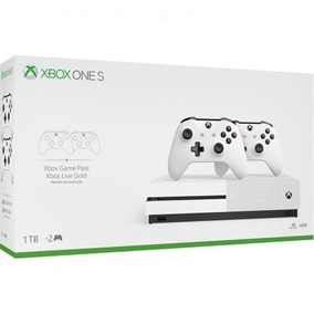 Xbox One S 1 Tb 4k Uhd + 2 Controles + 1 Mês Games Pass