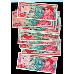 Billete Antiguo México De Veinte Pesos Rosas L S13